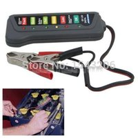 Wholesale 12V Auto Car Battery Alternator Load LED Light Battery Tester Digital Display Indicates Condition small order no tracking