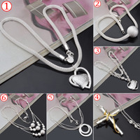 beautiful heart necklace - HOT Top Quality Silver Pendant Necklaces For women Beautiful Christmas gift Charms Lady s Necklaces Pendants