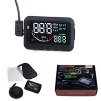 Wholesale Inch Updated nd Universal Car Head Up Display Overspeed Warning OBD II Connector Car HUD F02