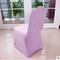 Wholesale 100pcs CCA3325 High Quality Spandex Chair Covers Colors Customized Banquet Chair Covers For Wedding Decors Home High Elastic Chair Cover