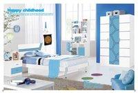 Wholesale Blue Children Dream House Furniture Bedroom Furniture wood furniture Bed desk wardrobe cabinet boy girl bedroom MYL8813