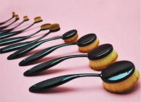 Wholesale 5sets Professional Makeup brush Oval Toothbrush Women Foundation Eye Shadow Blusher Soft Shape Curve Brushes Makeup Tools