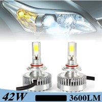 auto single lamp - 2pcs set V W LM K Beam Angel LED Headlight Kit Single Lamp Replacement Bulbs Auto LED Light H4 Available