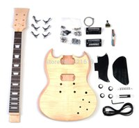 Cheap Free shipping SG guitar semi-finished guitar product electric guitar oem DIY guitar kit