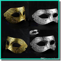 ancient greeks - Men s ancient Greek and Roman warriors masquerade mask Gold and silver color optional