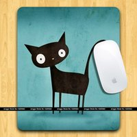 Wholesale NEW Art Creative I found you Black cat Mouse pad Mat accessories X200X3mm FreeShipping poster mouse pads