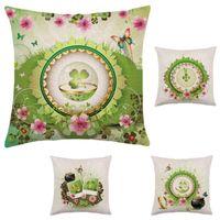 bath back pillow - Creative Love Beautiful Clover Series On Cotton Pillowcases Hold Pillow