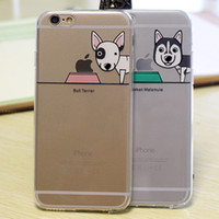 apple dog - iPhone case mm Ultra Soft Silicone Cute Dog Clear Transparent TPU Gel Case Skin for iPhone S With Dust Plus Free Ship MOQ