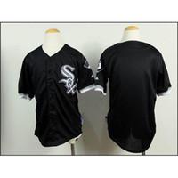 children apparel - Chicago White Sox Jordan Baseball Jerseys for Children Black Sports Jerseys Kids Baseball Wears Baseball Apparel Online for Sale