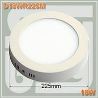 No 85-265V 2835 20pcs lot led panel light 18w kitchen light ceiling round surface mounted Aluminum 2835SMD 18w panel lights