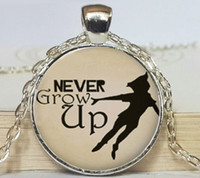 gold pan - Never Grow Up Peter Pan Quote Jewelry Peter Pan Necklace Peter Pan art pendant jewelry