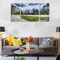 alpine woods - Home Decor HD Print Landscape art painting on canvas No stretch Sky alpine woods PC