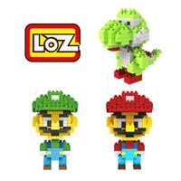 Wholesale LOZ Super Mario Building Blocks Red Green Mario Yoshi Model Figure Blocks Intelligence Educational Toy Gift