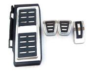 Wholesale 1 sets Car Pedals Cap Foot Rest Cover Accelerator Brake Clutch foot lounge MT AT For Volkswagen VW Golf GTi MK7 Skoda