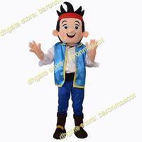 Jake et les Vêtements Neverland Costume Pirates Jake Mascot Party Adulte Vêtements Cartoon Taille Livraison gratuite