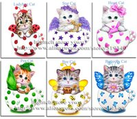 Wholesale Cross Stitch diy Diamond Painting Colorful CAT Baby Gift Home Decoration Animal Series Diamond Embroidery Painting Cartoon Cat
