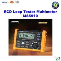 gfci - HYELEC MS5910 RCD Loop Tester Multimeter for GFCI Loop Resistance Testing