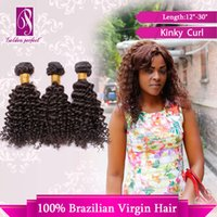 Wholesale Afro Kinky Curl Unprocessed Virgin Brazilian Bundle Curly Hair Weft Clip In Human Hair Extension Natural Color PC