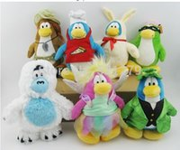 Unisex baby doll club - 7pcs Cuter Club Penguin plush doll Childhood Baby Plush Toys Classic Collection Doll Christmas birthday party gift