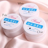Wholesale New Nail Art Acrylic UV Gel Glue Pink White Clear Color Builder Manicure Polish