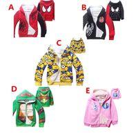 Wholesale Kids Zipper Hoodie Coat Yellow Man Despicable Me Children Jacket Boys Girls Cartoon Minions Hooded Outfit children Hoodies Sweat shirts