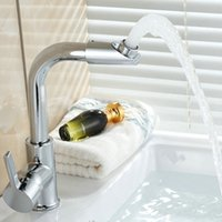 Wholesale Hot Kitchen Faucets Swivel Spout Bathroom Basin Faucet Brass Mixer Tap Chromed Polished Kitchen Sink Faucets