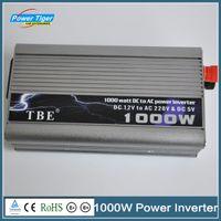 140 to 249 Volts DC12V USB 1000W TBE Hot Sale Car Power Inverter DC 12V To AC 220V 1KW Modified Sine Wave Power Inverter With Cigarette Lighter For Cars