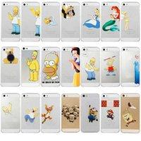 ariel snow white - Princess Snow White Elsa Little Mermaid Ariel Semi Simpsons Spiderman Despicable Matte Clear PC Case for iPhone C Plus