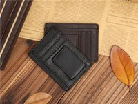 Wholesale 2016 New Leather multi card bit dollars purse clip wallet multifunction special for USD