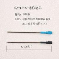 ballpoint pen refill lot - mm black blue Gros mini refill cartridge oily metal ballpoint pen refills crystal pen refills