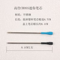 Wholesale mm black blue Gros mini refill cartridge oily metal ballpoint pen refills crystal pen refills