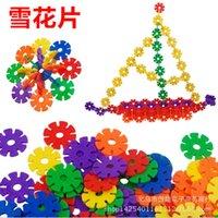 Wholesale Snowflake plastic blocks toys children s educational toys new hot toys