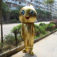Wholesale Golden baby Eva Mascot CostumesCostumeValentine s Day Thanksgiving Day Christmas Halloween