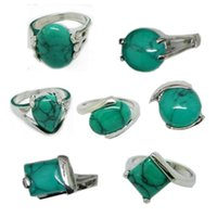 dollar store - 2014 Hot Selling Small Natural Turquoise Ring Natural Stone Rings Dollar Store Fashion Ring For Womeni