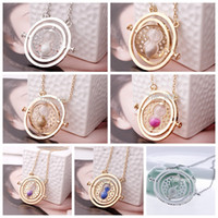 turner - European and American popular harry potter necklace necklace time converter harry potter hermione granger rotating time turner necklace