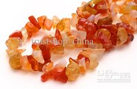 Wholesale Carnelian Agate Chip Stone Natural Chips Loose Beads Gemstone Freeform DIY Beads quot