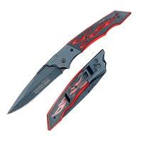 flick knife - Outdoor Camping Foldable Pocket Knife Flick Knife Jacquard Design Steel Fruit Knife cm Drop Shipping