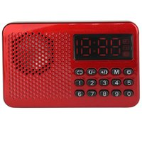 clock radio mp3 - Portable FM Radio Receiver MP3 Player USB Speaker With Battery Y4174C