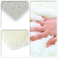 Wholesale Plush Shaggy Soft Carpet Area Rug Slip Resistant Door Floor Mat For Bedroom Living Room