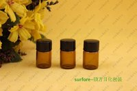 Wholesale 2ml brown oil bottle bottles perfume dispensing oil bottles vials dispensing portable empty bottle