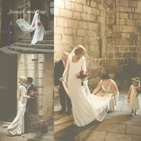 barcelona dress - Intimate Luxurious In Barcelona With A Suzanne Neville Long Sleeves Backless Long Regency Wedding Dress Bride Gown HS299