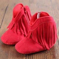 Wholesale Newborn Baby Boy Girl Winter Tassel Shoes Infant Toddler Soft Sole Boots M Kid Children Unisex Autumn Winter Ankle Boot Shoe
