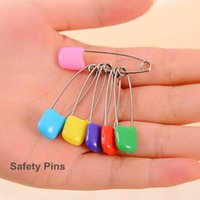 baby brooch pin - 500 Metal safe pin brooch findings for baby care Color safety pins DIY accessories zakka Novelty households dandys