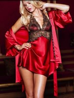 Wholesale 2015 Fashion Sexy Underwear Three Sets of Sexy Lingerie Sleepwear Suit Wth Shawl