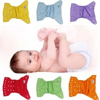 Wholesale 2015 Superior Soft TPU Cloth Diapers Adjustable Reusable Baby Waterproof Cloth Diaper Nappies Mix Colors Choose DLG