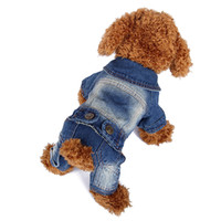 Wholesale Smart Fastener Jeans Pet Dog Christmas Jumper Clothing For Dog Jackets Outfit For Puppy Clothes Dog Pajamas