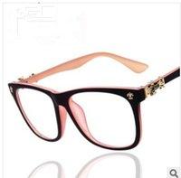 aluminum eyeglass frames - fashion men women brand designer optical suitable for myopia eyeglasses frame plain retro eye glasses frame oculos de grau A0111