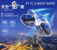 Wholesale Mini Handheld Quadcopter SYMA X11C Drone RC Helicopter Toys SYMA X11C Drone with HD Camera and LED