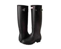 rubber boot - Ms Glossy Hunter Rain Boots Waterproof Women Wellies Boots Woman Rain Snow Boots High Boot Rainboots parirs free DHL