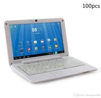 Wholesale 100X inch Mini laptop VIA8880 Netbook Android laptops VIA8880 quot Dual Core Cortex A9 Ghz MB GB GB GB Netbook BJ